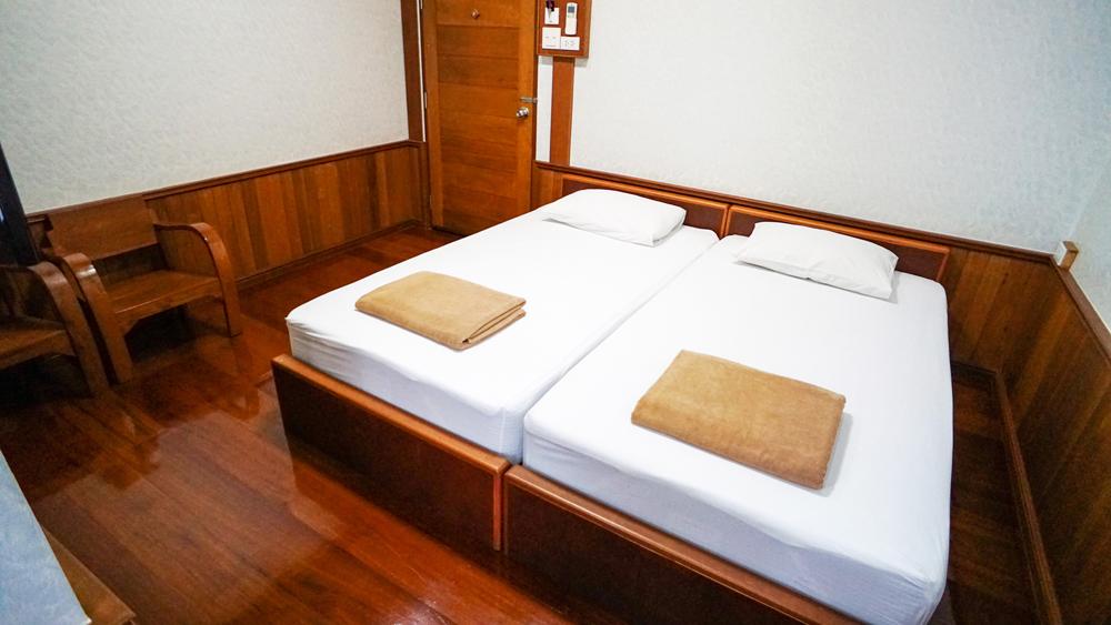 ห้องขนาดเล็กเตียงแฝด