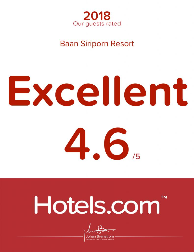 รางวัล Hotels.com 2018 Guest Rated Award