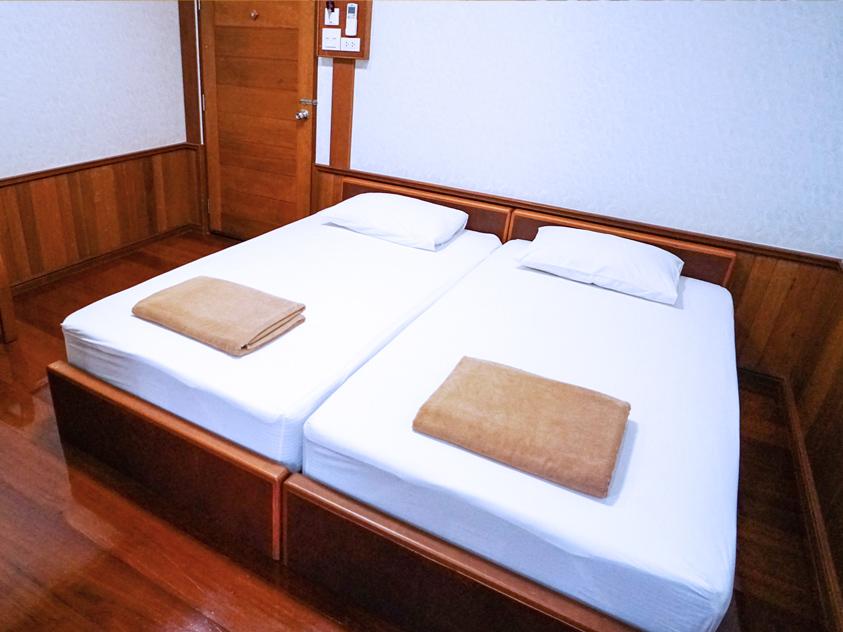 ห้องมาตรฐานเตียงแฝด (Standard Twin Room) ห้องพัก 2 ท่าน